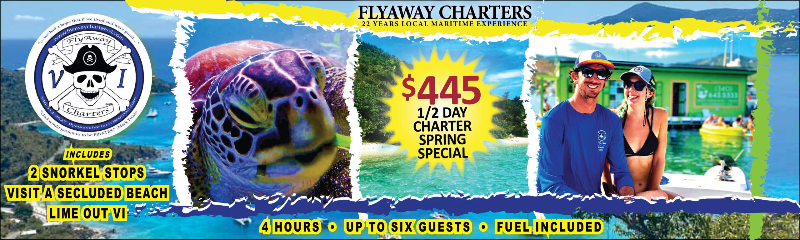Flyaway Charters -- Saint John Boat Charters Ad